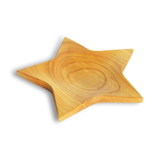 Waldfabrik Star shaped wooden platter W5143