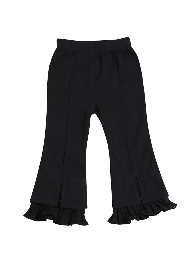 Ruffled Flare Pants