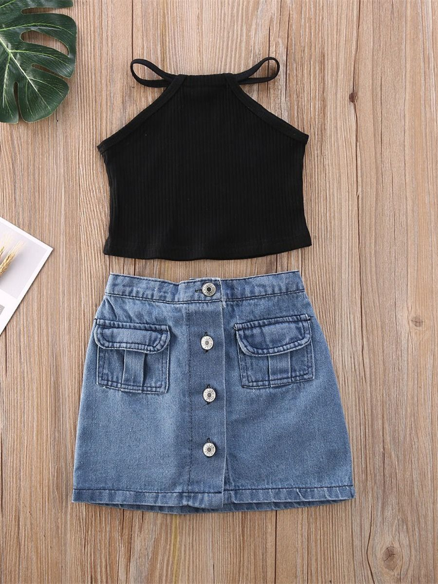 Sofia Denim Skirt Set