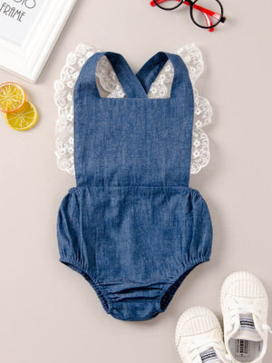 Denim & Lace Romper