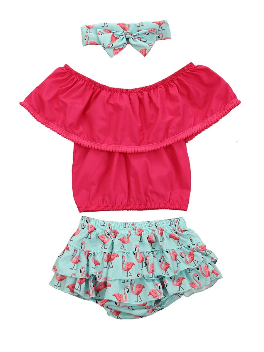 Pink Flamingo Top & Bottom Set