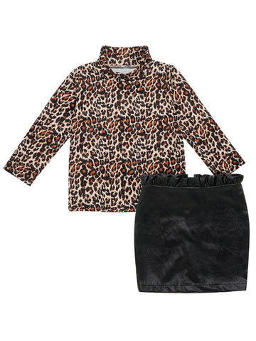 Leopard & Leather 2 Pc Set