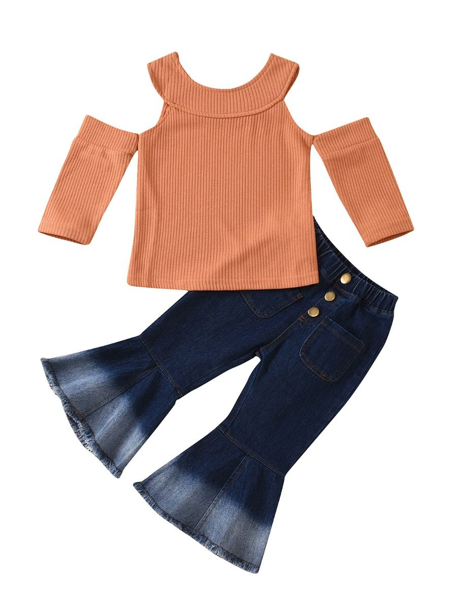 Fall Fashionista Flared Jeans Set