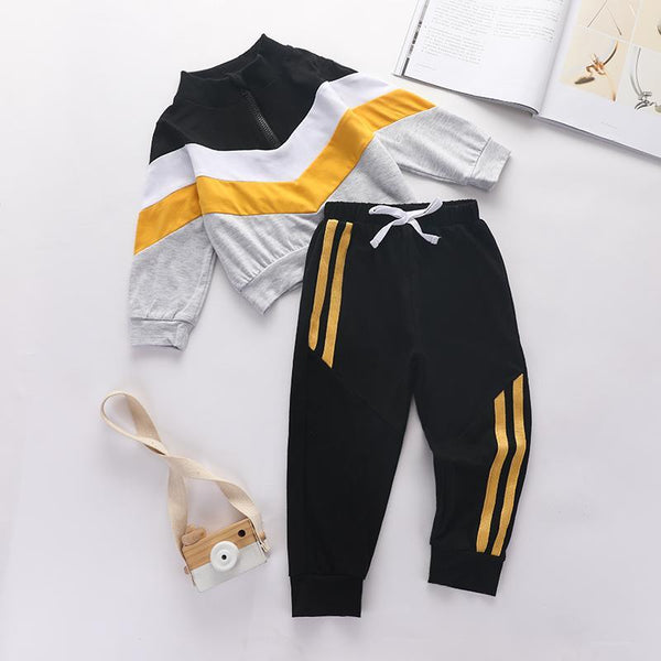Black & Yellow Sweats Set
