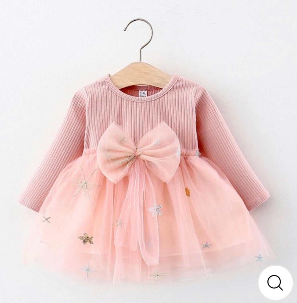 Twinkle Twinkle Little Star Dress (Pink)