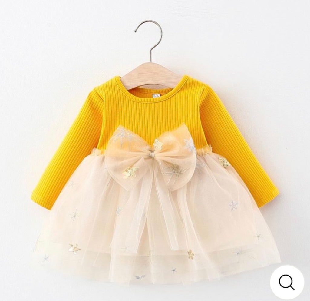 Twinkle Twinkle Little Star Dress (Yellow)