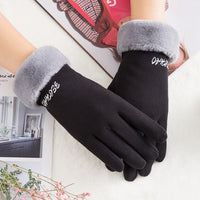 Winter Female Cashmere Driving Glove