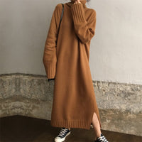 Pullover Knitted Long Dress Autumn Winter