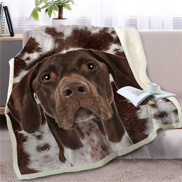 Dog Sherpa Blanket on Bed Christmas Gift 150x200