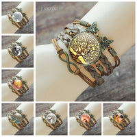 Tree of Life the Kiss Glass Cabochon Bracelet Handmade