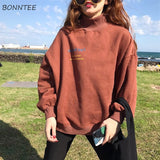 Hoodies Plus Cotton Womens Sweatshirts