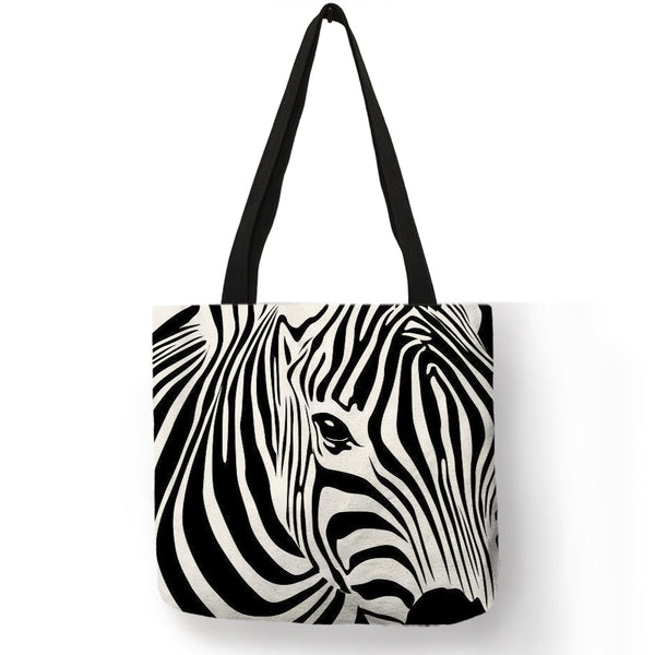 Print Girls Ladies Shoulder Bag Zebra Shopping Travel