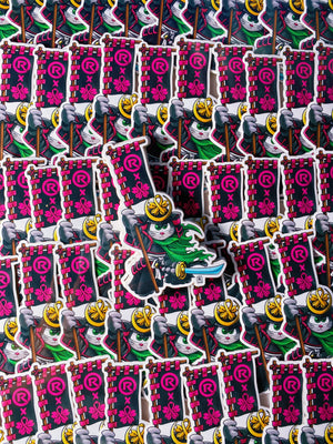 Samurai Gunther Stickers (Snackaddicted x Other Realms)