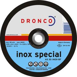 "Disc Cutting 9"" 1.9mm x 22mm Inox (1233250) DC9IN1MM22MMSTEAD"