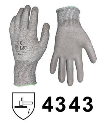Glove Kutlass PU300 Cut Protection to CE4343 Size 10 - GGKUT10PE