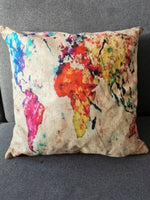 coussin world map