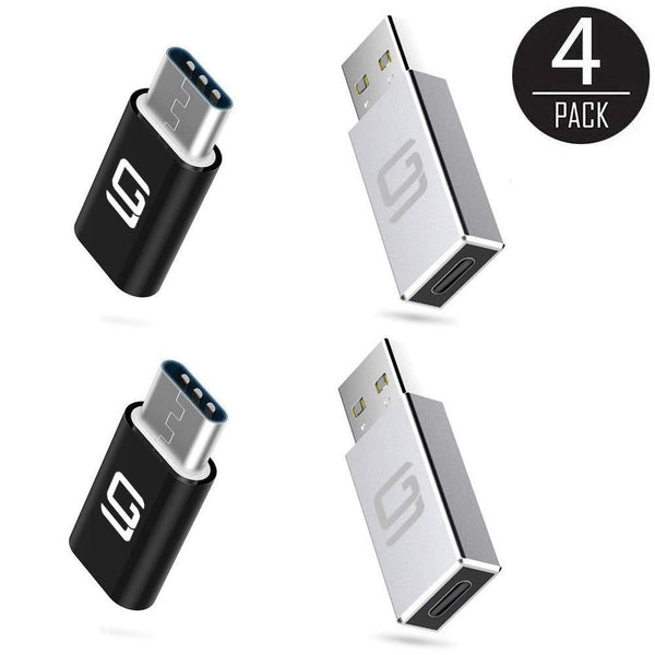 USB Micro to USB-C Adapter & USB-C to USB 3.0 [4 pack] - GodSpin