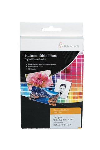 HAHNEMÜHLE Photo Matt Fibre 200gsm, 10x15 -50bl