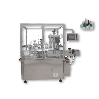 10ml 15ml 30ml liquid eye drop dropper bottle filling capping machine / oil bottling line