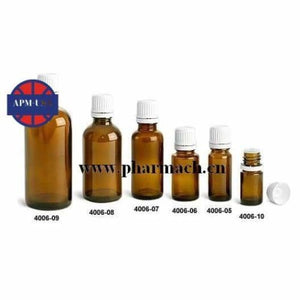 Amber Dropper Glass Bottle with Cap - Body Care Glass Bottle