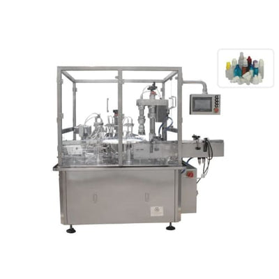 Automatic four nozzles filling one head capping 2 in 1 juice liquid filling machine - Eye Drops Filling Line