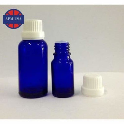 Blue Glass Dropper Bottle with Cap - Body Care Glass Bottle