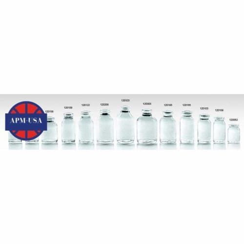 Clear Moulded Injection Vials for Antibiotics Ring Finish Gb19.7mm Usp Type Ii,iii - Pharmaceutical Glass Bottle