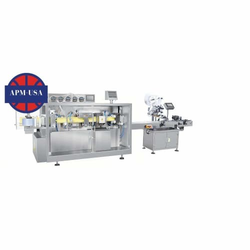 Oral Liquid Filling Sealing Machine with Pm-100 Labeling Machine - Liquid Filling Machine