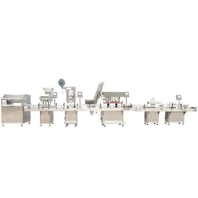 Pharmaceutical tablet bottle filling and counting machine - Tablet and Capsule Packing Line