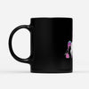 Unicorn Birthday Shirt Surprise Poop Present Behind Her - Black Mug
