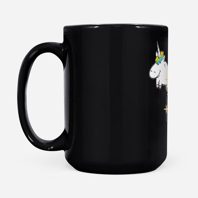 Unicorns and Poops Premium - Black Mug