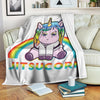 Cute Unicorn in Gi - Brazilian Jiu-Jitsu BJJ Gift - Fleece Blanket
