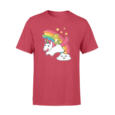 Kitty Riding a Unicorn - Funny Cartoon Tshirt for Cat Lovers S- 6XL plus size - Standard T-shirt