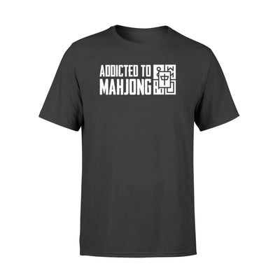 Addicted To Mahjong Design Graphic Lover Shirt - Standard T-shirt - Apparel