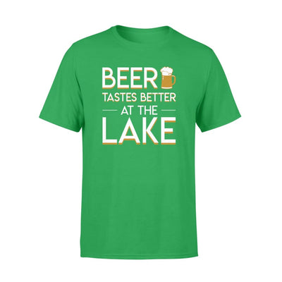 Beer Tastes Better At The Lake LOver Saying Gifts Shirt - Standard T-shirt - Apparel