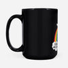 Vintage Unicorn Poops Rainbow You_re Welcome - Black Mug