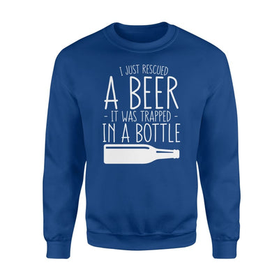 I Just Rescued Beer Trapped In Bottle Funny Beer Lover Gift - Standard Fleece Sweatshirt - Apparel