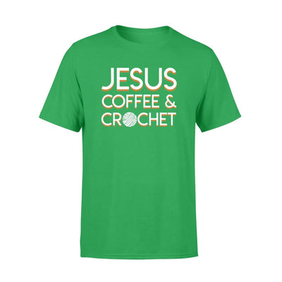 Jesus Coffee Crochet Christian Design - Standard T-shirt - Apparel