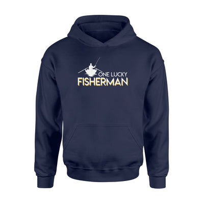One Lucky Fisherman Design Graphic Gifts Shirt - Standard Hoodie - Apparel