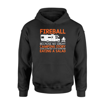 RV Camping No Great Camping Story Started With Eating Salad - Standard Hoodie - Apparel