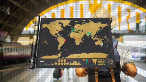 Enter for the chance to win a free World Scratch Map Poster