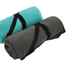 Load image into Gallery viewer, Fitness Microfiber Gym Towel with Zipper Pocket