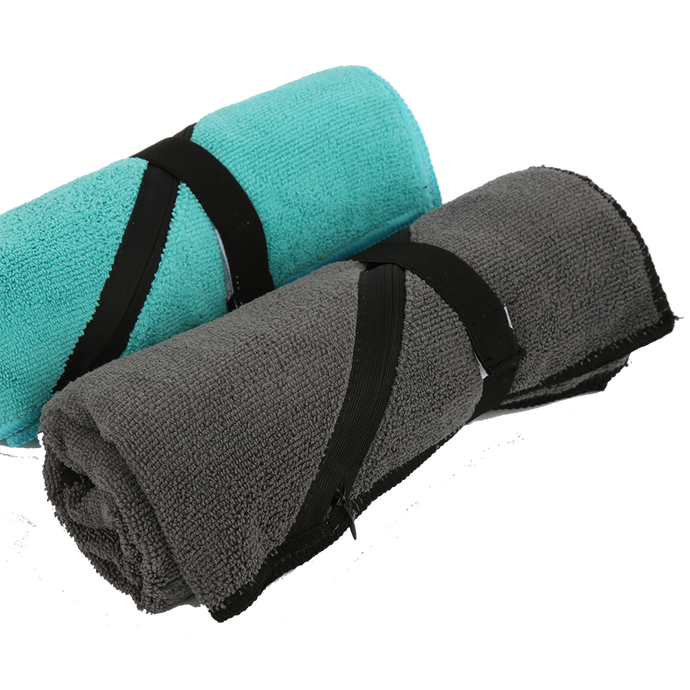 Fitness Microfiber Gym Towel with Zipper Pocket