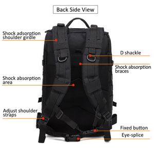Large Waterproof Rucksack for Gym Sports Travel and Hiking (45 L)