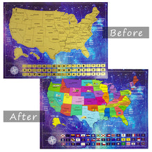 Load image into Gallery viewer, Scratch Off USA Map Poster and Presentation Tube
