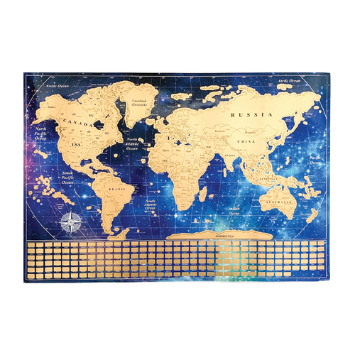 Scratch Off World Map Poster and Presentation Tube