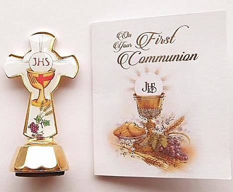 First Holy Communion Magnetic Cross and Card-Cross-Serenity Gifts
