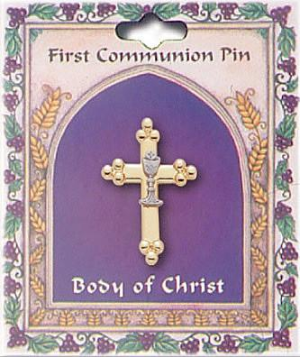 First Holy Communion Pin - Cross-Lapel Pin-Serenity Gifts