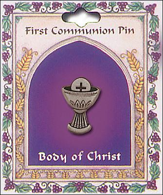 First Holy Communion Pin - Chalice and Host-Lapel Pin-Serenity Gifts