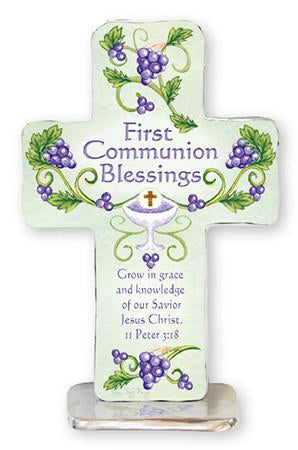 First Communion Blessings - Grow in Grace Metal Cross-Cross-Serenity Gifts